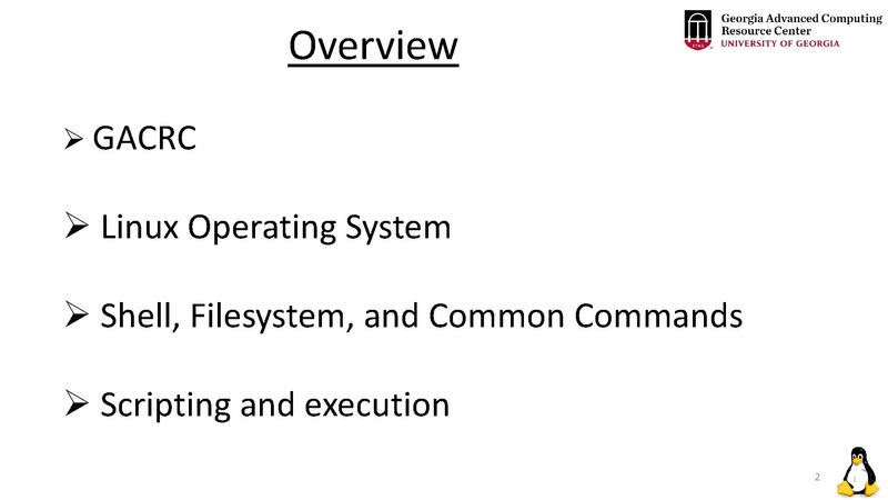 File:Linux Training For New Users Of Cluster Suchi 04252019 pdf